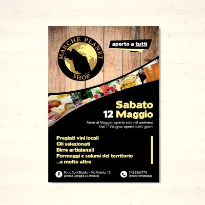 MarchePlanet - Grafica flyer